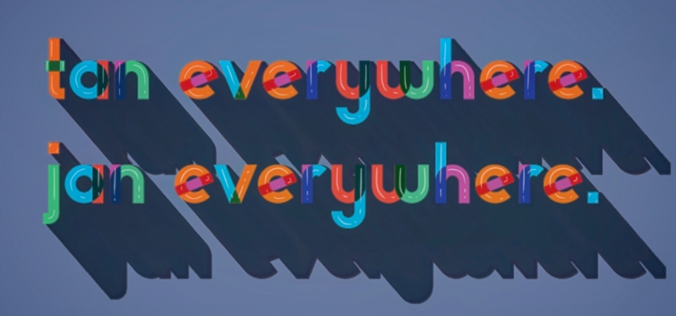 colorful typography with shadow